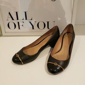 Tory Burch leather low block heels